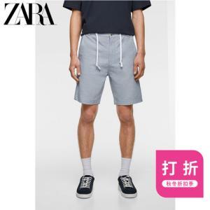 ZARA05006403403男装度假风休闲短裤 59元
