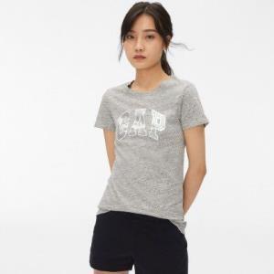Gap女装金属感Logo徽标短袖圆领T恤215888 40元