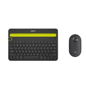 Logitech罗技K480无线蓝牙键盘+Pebble轻薄型静音双模鼠标229元
