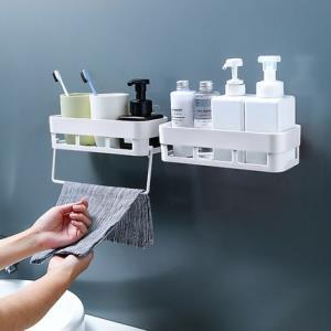 柏康卫生间肥皂盒+毛巾架白色    6.9元