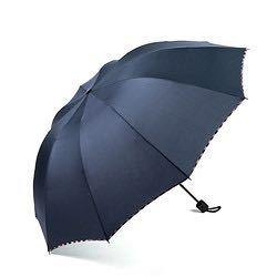 昵迪八骨手动雨伞94cm黑/蓝款可选 9.9元(需用券)