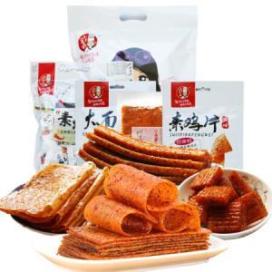 雪伟小马哥辣条大辣片大刀肉混合休闲零食大礼包570g*10件99元(合9.9元/件)