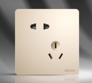 德力西CD821系列斜五孔插座十只装金色*3件    309元(合103元/件)