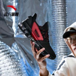 安踏ANTA官方旗舰男鞋跑步鞋SEEED全掌气垫跑鞋休闲鞋透气运动鞋黑/大红-39.5(男43)*2件 518元(合259元/件)