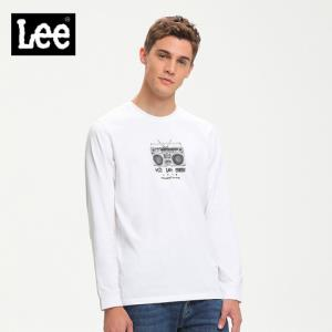 Lee商场同款白色长袖T恤男2019秋冬新款潮流上衣L371723RXK14 359元