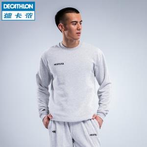 迪卡侬卫衣长袖体恤运动套头衫足球跑步篮球健身家居休闲棉KIO39.9元