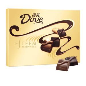 德芙多口味牛奶夹心黑巧克力礼盒送女友生日礼物浪漫表白262g 59.9元