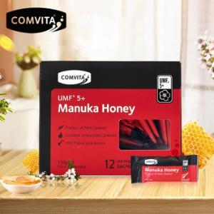 康维他(comvita)麦卢卡蜂蜜5+便携装12条新西兰进口袋装蜂蜜小包装*2件    142.8元(合71.4元/件)