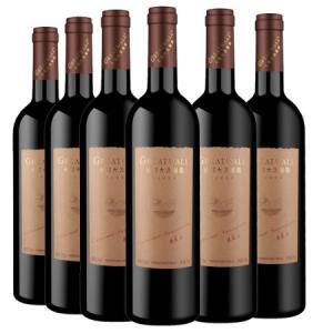 长城(GreatWall)红酒宁夏大漠葡园赤霞珠干红葡萄酒750ml*6整箱装 118元