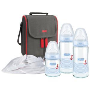 NUK宽口玻璃奶瓶+妈咪包8件套装*2件    523.5元(合261.75元/件)