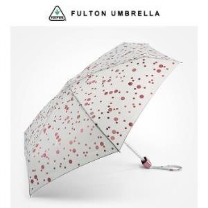 英国富尔顿FULTON超轻迷你折叠伞晴雨伞口袋伞5折伞女RoseGoldMetallicSpots*2件 540元(合270元/件)