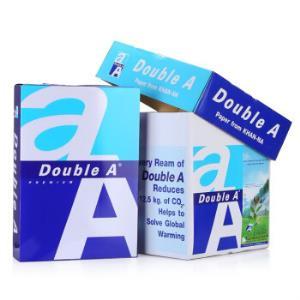DoubleA80gA4复印纸500张/包5包/箱(2500张)    155元