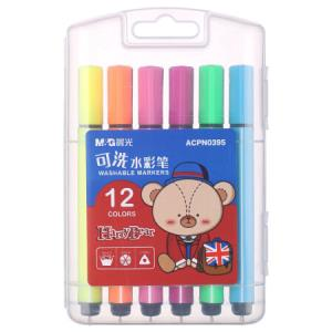 M&G晨光ACPN0395小熊哈里系列三角杆可洗水彩笔12色*5件 26.25元(合5.25元/件)