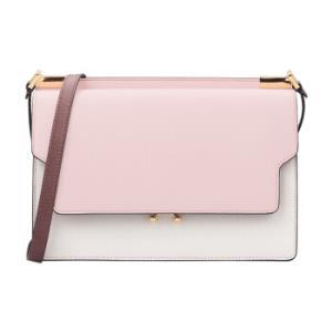 MARNI玛尼女士粉色白色拼色牛皮单肩包SBMP0003U5LV520Z172N    9320元