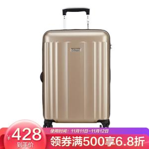 外交官(Diplomat)拉杆箱磨砂面旅行箱TSA密码箱行李箱升级版双排轮TCF-15174米色28英寸    479元