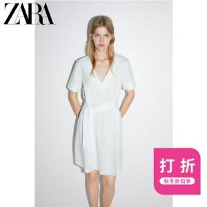 ZARA新款女装配腰带质感连衣裙01165702251    59元