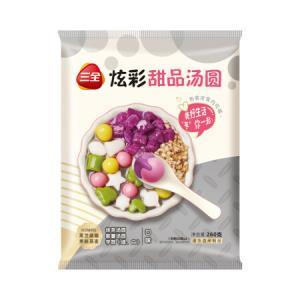 三全炫彩甜品汤圆紫薯口味260g*11件 128.9元(合11.72元/件)