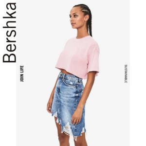 Bershka巴适卡07278443676女士纯棉短袖T恤 15元