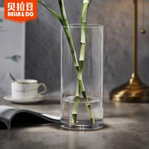 贝拉豆北欧玻璃花瓶富贵竹百合水培花器干花仿真花插花摆件HXZT02 19元