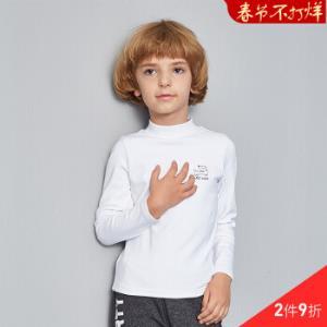ABCKIDS童装秋季男女童纯棉高领长袖T恤立领打底衫体恤白色120cm*2件88.2元(合44.1元/件)