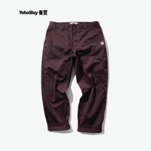 YOHO有货潮牌ENERGYSUPPLY图案刺绣休闲工装裤直筒九分裤男咖啡色M*2件 298.2元(合149.1元/件)