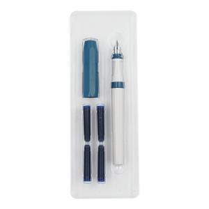 德国进口Kaweco钢笔撞色系列套装perkeosport小清新礼品树脂笔杆墨水笔签名办公灰拼蓝色钢笔墨囊套装 109元