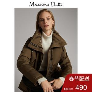 秋冬大促MassimoDutti女装秋冬女士修身版拼接内层短款派克外套06726711505    450元