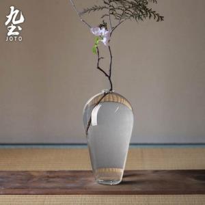 九土DER0073日式禅意手工玻璃花瓶透明款 77.42元