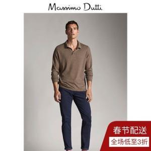 秋冬大促MassimoDutti男装秋冬POLO衫款丝质/棉质男式针织衫00933308706    120元