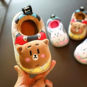 儿童棉拖鞋1-3岁冬季男童包跟室内婴幼儿2女童棉鞋毛毛宝宝家居鞋14.9元(需用券)