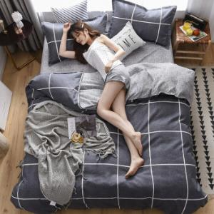 磨毛四件套植物羊绒棉被套床单床上用品 79元