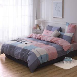 家纺学生宿舍纯棉床上用品四件套全棉被套床单 119元