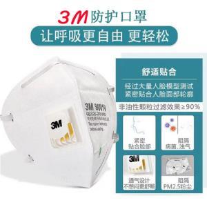 3m口罩9001V防沙尘防雾霾防工业粉尘PM2.5舒适透气防异味防晒9002    107.02元