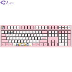AKKO3108BilibiliWorld机械键盘108键吃鸡键盘粉色粉轴354元