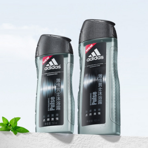 adidas阿迪达斯男士沐浴露400ml送250ml浴花 20元(需用券)