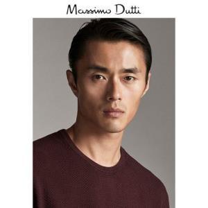 秋冬大促MassimoDutti男装棉质丝质纹理针织衫00936308555    120元