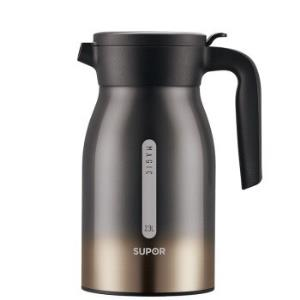 SUPOR苏泊尔KC23BW1304不锈钢暖水瓶家用热水瓶魔力黑2.3L 174元