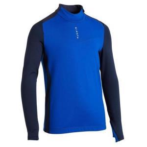 成人足球训练半拉链运动衫T900-蓝色/海军蓝 69.9元