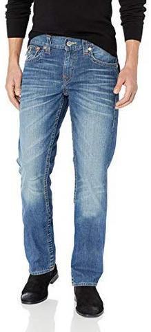 TrueReligion男式直筒牛仔裤,带翻盖后口袋 382.68元
