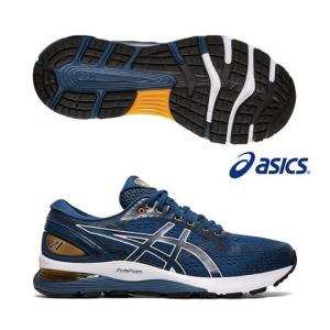 asics亚瑟士跑鞋男士缓震科技减震舒适耐穿专业长跑运动鞋GEL-NIMBUS21潮流色系经典蓝1011a169-402 560元