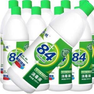 84消毒液殺菌除菌衣物漂白去黃廁所除臭地板消毒水10瓶31.32元
