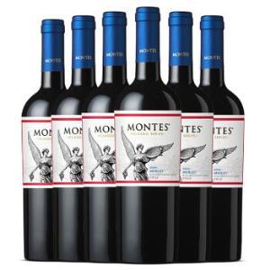 montes蒙特斯经典系列梅洛红葡萄酒750ml整箱装 348元