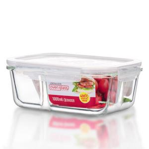 乐扣乐扣耐热玻璃保鲜盒分隔微波炉饭盒1000ml58元