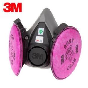 3M防尘防毒面具P100等级防尘防雾霾颗粒物工业包装无防伪标识(非医用)6100+2091套装