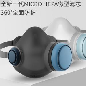 呼博士头戴式口面罩硅胶材质含6片防菌滤芯 299元