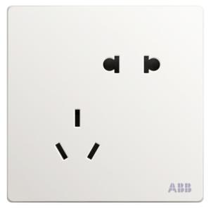 ABB开关插座轩致白单开单控插座*5只    45.4元包邮(需用券)