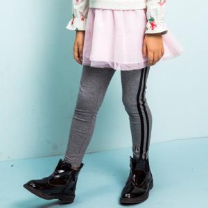 HushPuppies暇步士童装春季新款女童轻薄弹力打底裤长裤 66.24元
