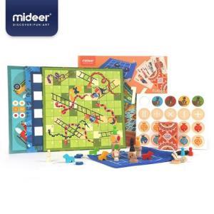 mideer弥鹿桌游儿童16合一多功能棋盘游戏亲子益智早教棋类玩具 136元(需用券)