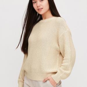 限尺码:女装混色圆领针织衫(长袖)422913优衣库UNIQLO 129元