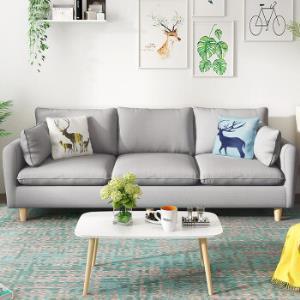 北欧客厅整装小户型布艺沙发可拆洗时尚灰三人位1180元